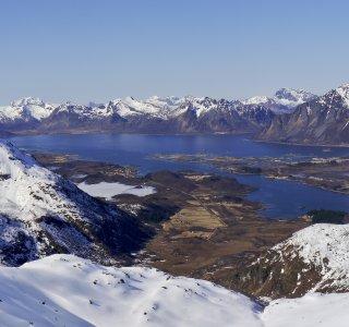 Lofoten, Panorama, Skitour Norwegen