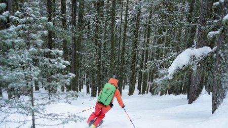 Freeride Abfahrten im Bansko Skigebiet, Pirin Gebirge, Bulgarien