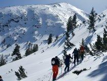 Skitour auf Hvoinati Gipfel, 2.632 m, Poron Gebirge, Bulgarien