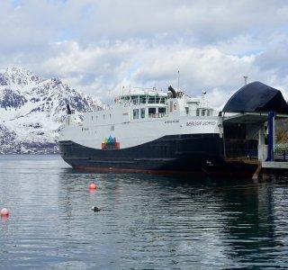 Skitour Finnmark Fähre über Bergsfjord