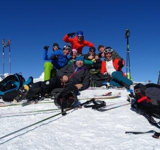 Gruppe Gipfel Tafeltinden, Lyngen Alps
