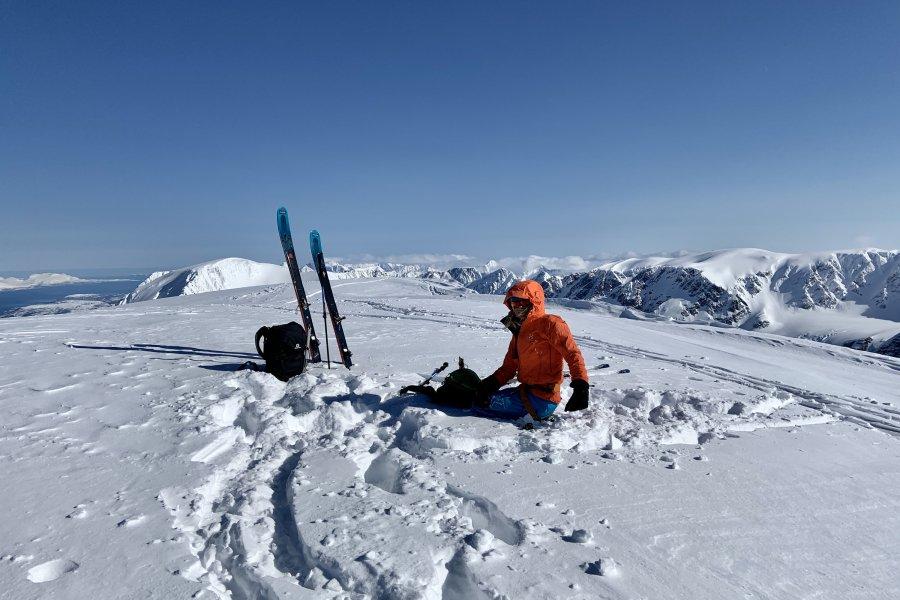 Lyngen Apls Jiehkkevarri Gipfel