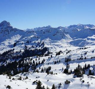 Panorama Hoher Ifen mit Widderstein