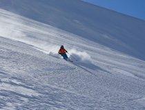 Lyngen Alps, Powder am Jiekkevárri