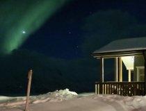 Artic Lyngen Sea Camp im Nordlicht