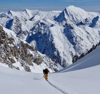 Val Maira, Gruppe im Aufstieg zum Cassorso
