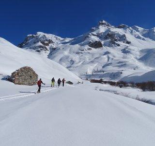 Val Maira, 4er Gruppe im Aufstieg