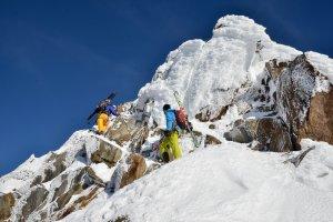 Skitour Wildspitze Gipfelaufstieg, Eispilz