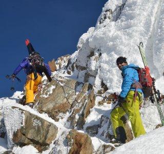 Skitour Wildspitze Gipfelaufstieg