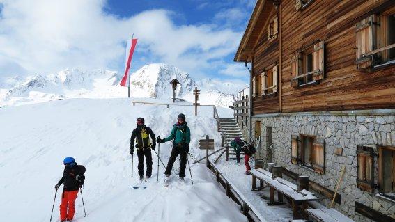 Marteller Hütte. Skitouren Martelltal