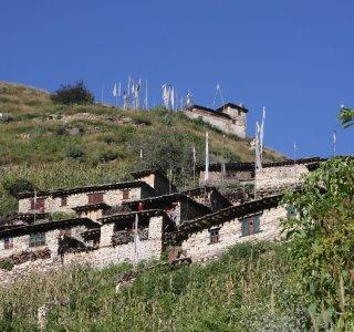 Bergdorf in Nepal