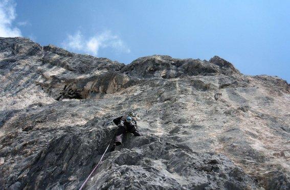 steile Wand, Kletterer