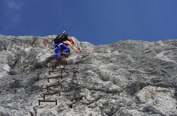 Klettersteig Höllental Zugi
