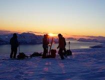 Mitternachtssonne Skitour Nordmannviktinden