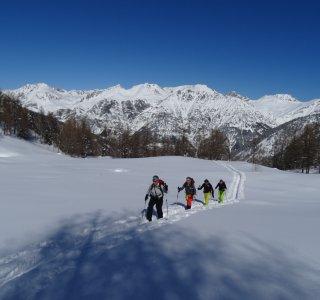 Valle Stura, Gruppe im Aufstieg