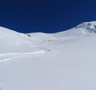 Neuschnee an der Punta Ostanetta