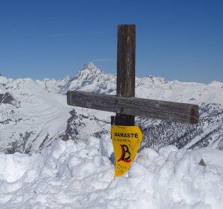 Gipfelkreuz am Mt. Giobert
