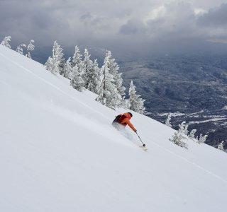 Abfahrt vom Dautov, Freeriden und Skitouren in Bulgarien