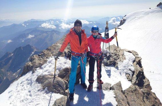 Gran Paradiso u Monte Rosa, Gipfel Zumsteinspitze