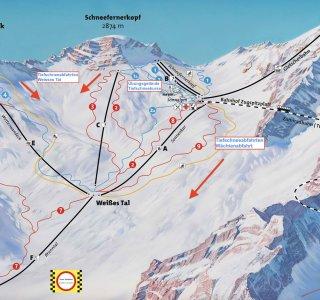 Pisten Plan Zugspitze