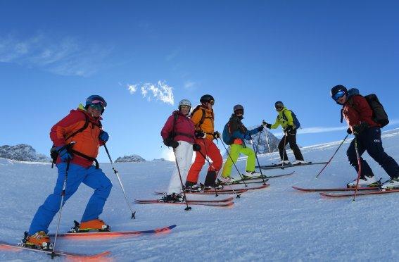 Tiefschneekurse Einsteiger auf der Zugspitze