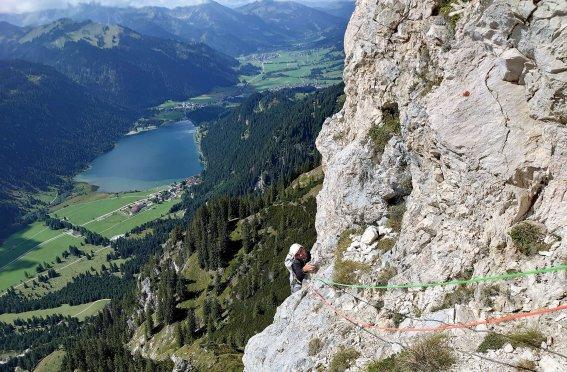 Alpinklettern, Haldensee, Hochwiesler