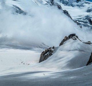 Cosmiqueshütte, Gletscher, Fels