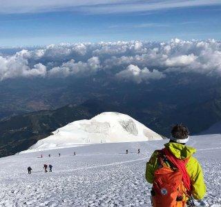 Dome du Gouter, Bergführer, Abstieg