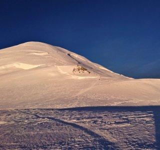 Mont Blanc Gipfelanstieg, Sonnenaufgang