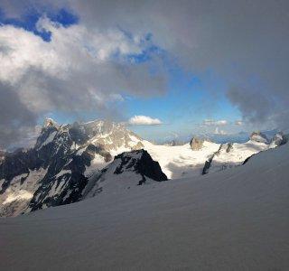 Mont Blanc, Gletscher, Gipfel