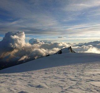 Sonne, Schnee, Wolken, Mont Maudit