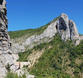 Orpierre Felsen für Mehrseillänge