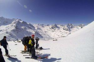 Skitour, Sonne, Aufstieg, Silvretta