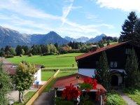 Ausblick Balkon Alpenrose