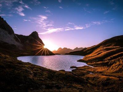 Sonnenuntergang am Rappenalpsee