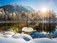 Oberstdorf, Moorweiher im Winter