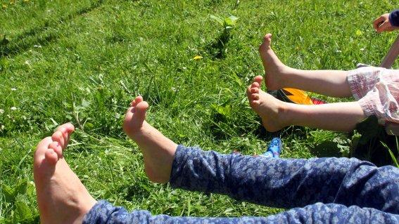 Kinderfuesse Psychotherapie