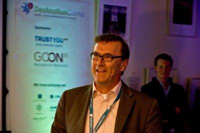 DestinationCamp 2012 - Keynote mit Hasso von Düring (TUI) © Johannes Leistner