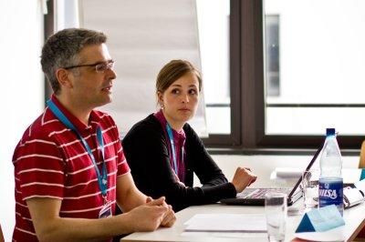 DestinationCamp 2012 - Bewegte Bilder-Werkstatt mit Bernhard Lingg und Elvia Gaida © Johannes Leistner