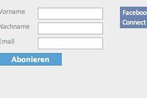 Newsletter abonnieren auf netzvitamine.de mit Facebook-Connect © netzvitamine GmbH