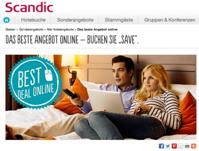 Screenshot © 2013 Scandic Hotels
