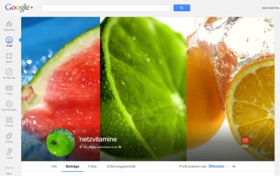 Netzvitamine Google Plus Cover © Google Inc.