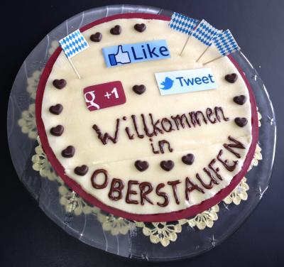 Oberstaufen: Plugins-Torte für den Datenschutz © netzvitamine GmbH