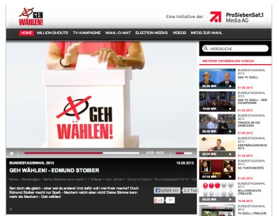 Screenshot © 2015 ProSiebenSat.1 Digital GmbH
