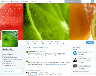 Neues Twitter Design © Twitter Inc.