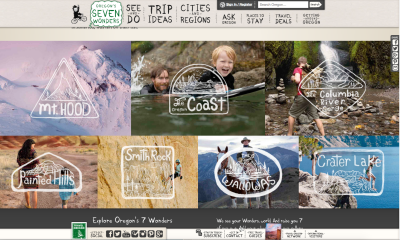Screenshot Travel Oregon © Travel Oregon