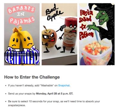 Good Practice Gewinnspiel: Mashable Gewinnspiel © Screenshot Snapchat Dasha Battelle