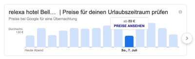 relexa Hotel Hamburg - Screenshot Google-Suche von Juni 2019
