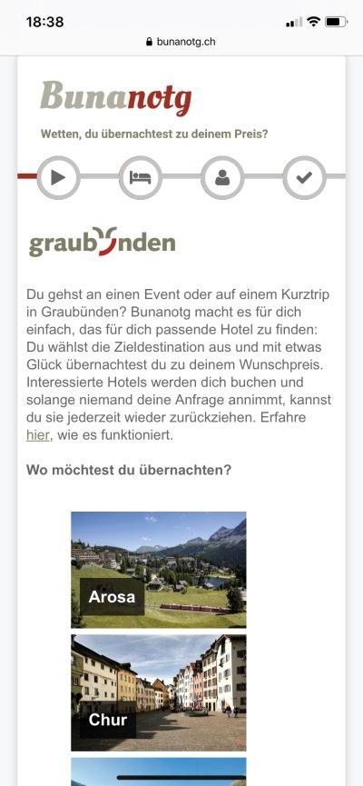 Wunschpreis – Screenshot Bunanotg.ch 2019-10-29