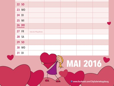 Familienkalender Mai